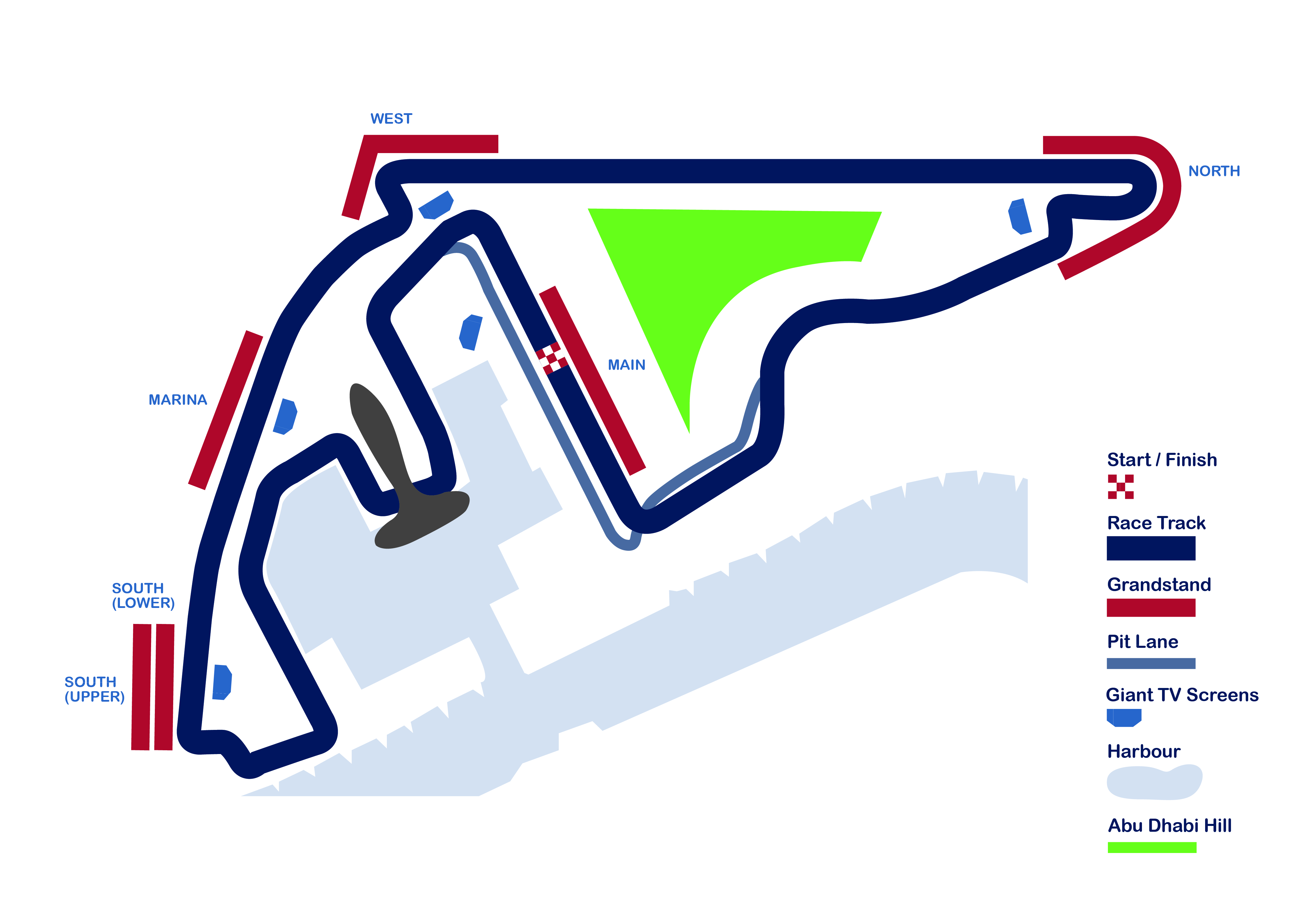 Abu Dhabi Grand Prix Circuit Map