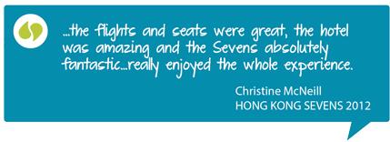 Hong Kong 7s Testimonial